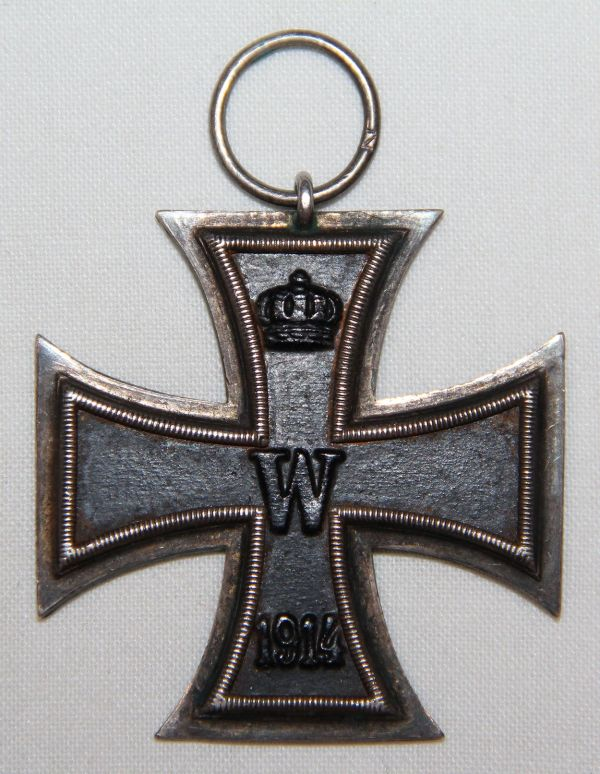 "B004. WWI 2ND CLASS IRON CROSS, HALLMARKED ""7"" OR ""Z"""