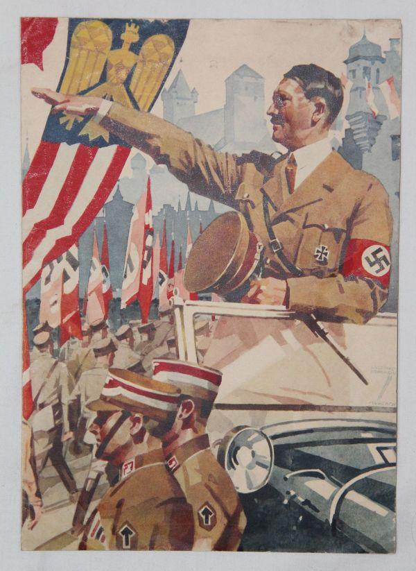 R005. COLORFUL WWII GERMAN REICHSPOST TELEGRAM, 1938 DATED
