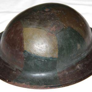 B012. WWI CAMOUFLAGE M1917 STEEL COMBAT HELMET