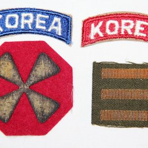 KOREAN WAR - COLD WAR, HELMETS, CAPS, UNIFORMS, MEDALS, PATCHES, INSIGNIA, FIELD GEAR, PAPER ITEMS, KNIVES, BAYONETS