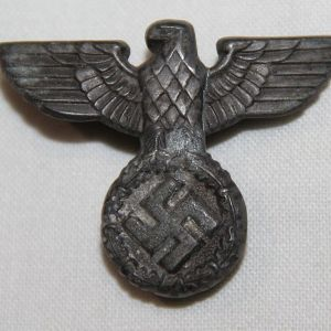 P011. WWII GERMAN REICHSPOST, REICHSBAHN OR CUSTOMS VISOR CAP EAGLE
