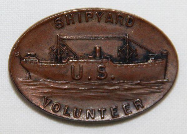 B017. WWI SHIPYARD VOLUNTEER LAPEL PIN