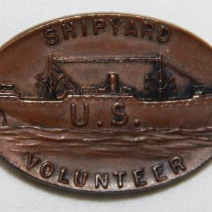 B017. WWI SHIPYARD VOLUNTEER LAPEL PIN