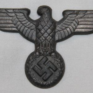 P014. WWII GERMAN SA-POLITICAL VISOR CAP EAGLE