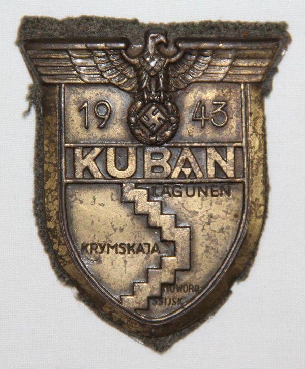 Q017. WWII GERMAN ARMY KUBAN CAMPAIGN SHIELD