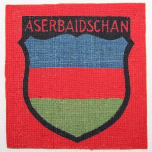 O.119. WWII GERMAN ASERBAIDSCHAN VOLUNTEER SLEEVE SHIELD
