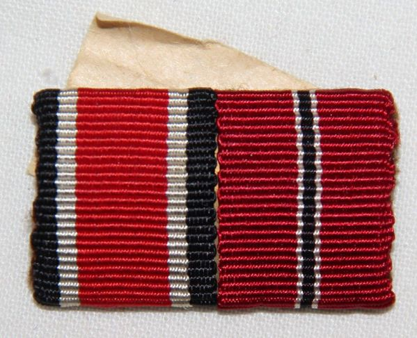 Q044. WWII GERMAN 2 PLACE RIBBON BAR EKII AND RUSSIAN FRONT