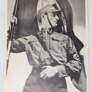 R081. WWII GERMAN PROPAGANDA CARD OF SA TROOPER