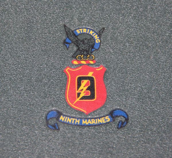 J007. HARD TO FIND WWII NINTH MARINES 1942-1945 UNIT HISTORY W/ ROSTER
