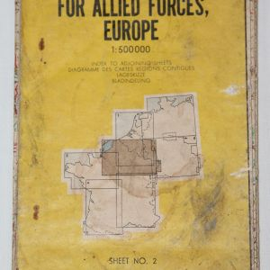 S006. KOREAN WAR ERA OFFICIAL ROAD MAP FOR ALLIED FORCES, EUROPE 1953 DATED