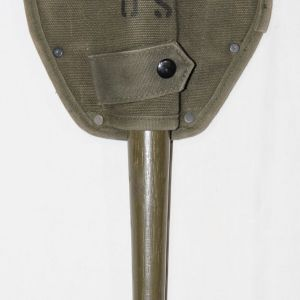 T009. NICE PRE VIETNAM ENTRENCHING TOOL, SHOVEL W/ PICK & COVER