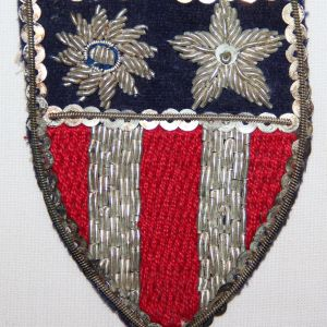 G021. WWII CBI PATCH, SEQUINS, BULLION & CLOTH