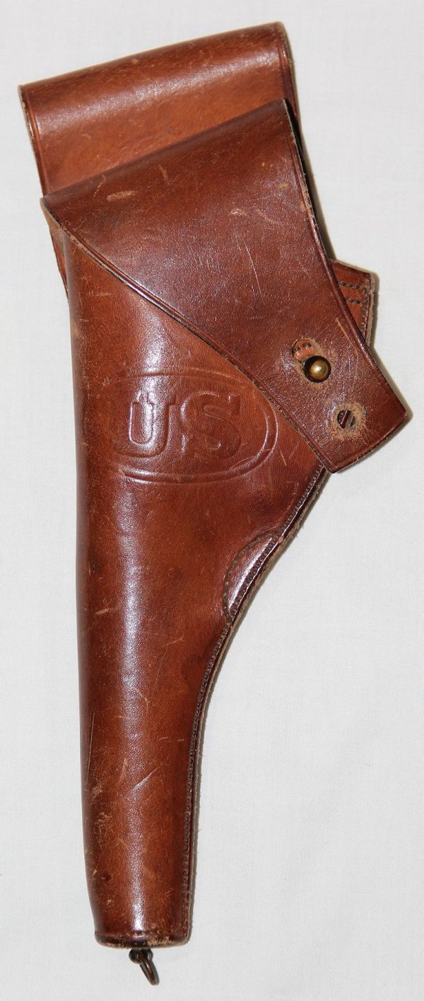A007. PRE WWI RIA 1905 DATED LEATHER .38 REVOLVER HOLSTER