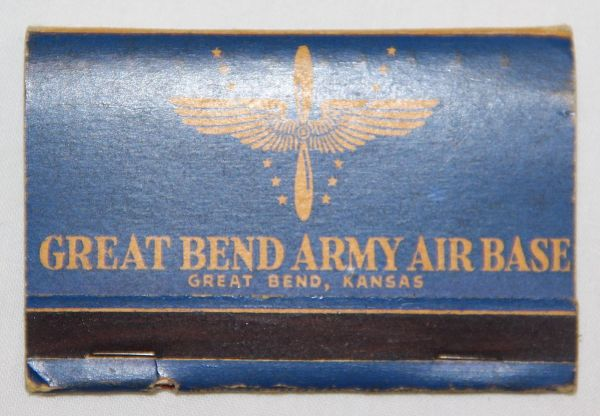 I016. WWII GREAT BEND ARMY AIR BASE, KANSAS MATCHBOOK