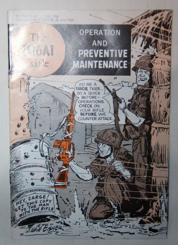 T017. VIETNAM 1969 DATED M16A1 RIFLE OPERATION AND MAINTENANCE MANUAL