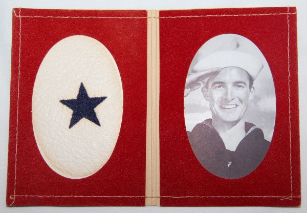 I018. WWII HOME FRONT SON IN SERVICE FOLD OPEN PHOTO FRAME