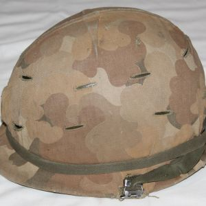 T030. UNTOUCHED VIETNAM OFFICERS M1 HELMET SET