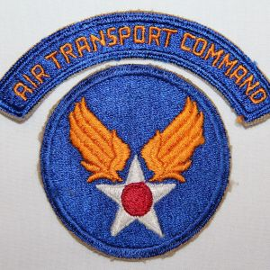 G045. WWII AAF AIR TRANSPORT COMMAND ARC WITH HEADQUARTERS PATCH