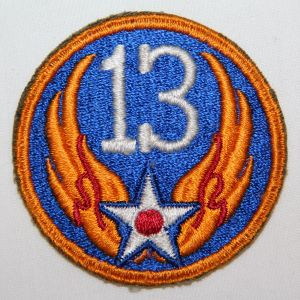 G049. WWII AAF 13TH AIR FORCE PATCH