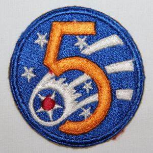 G051. WWII AAF 5TH AIR FORCE PATCH