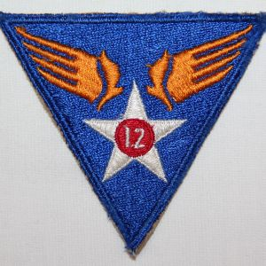 G052. WWII AAF 12TH AIR FORCE PATCH