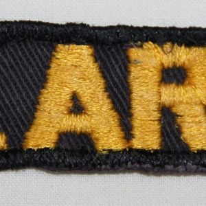 T036. EARLY VIETNAM U.S. ARMY UNIFORM TAPE, EMBROIDERED ON TWILL
