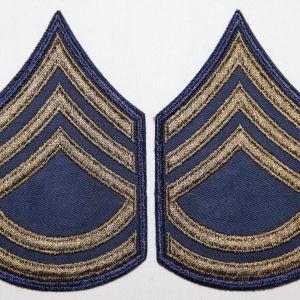 S019. UNISSUED KOREAN WAR E-6 SERGEANT FIRST CLASS CHEVRONS, STRIPES