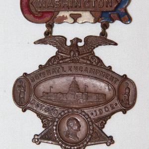 A013. 1902 G.A.R. WASHINGTON D.C. 36TH NATIONAL ENCAMPMENT BADGE