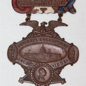 A013. 1902 G.A.R. WASHINGTON D.C. 36TH NATIONAL ENCAMPMENT BADGE
