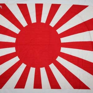 M019. NEAR MINT WWII JAPANESE NATIONAL RISING SUN WAR FLAG