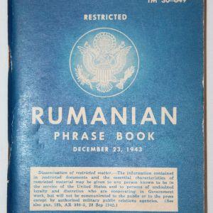 J023. WWII RUMANIAN PHRASE BOOK