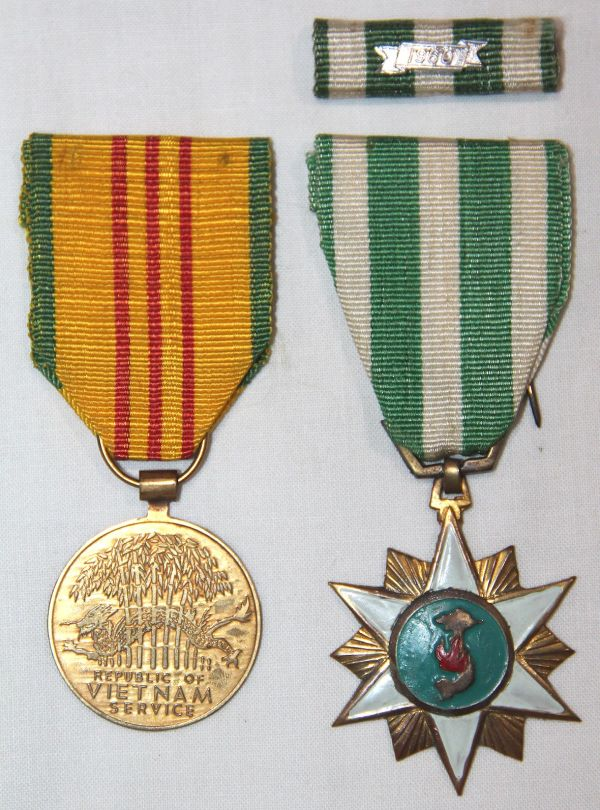 T047. THEATER MADE VIETNAM SERVICE AND CAMPAIGN MEDALS