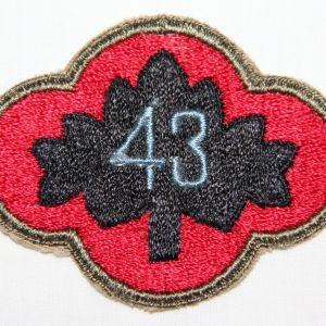 G063. WWII 43RD INFANTRY DIVISION PATCH VARIATION
