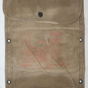 E073. WWII VEHICLE MAP OR MANUAL CASE WITH CORPS OF ENGINEERS MARKINGS