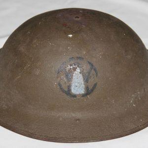B247. WWI 89TH DIVISION INFANTRY M1917 HELMET