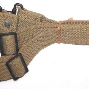 E072. 2 UNISSUED WWII MEDIC BAG SHORT CANTLE STRAPS