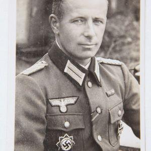 R027. WWII GERMAN GERMAN CROSS WINNER LIEUTENANT COLONEL WEBER, GREIF DIVISION