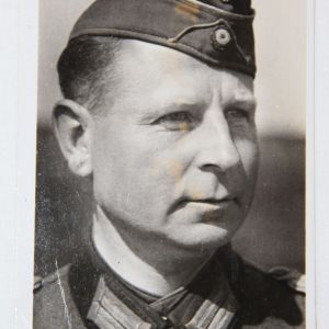 R030. WWII GERMAN OBERST LEHMANN POSTCARD COMMANDER 409TH GRENADIER REGIMENT