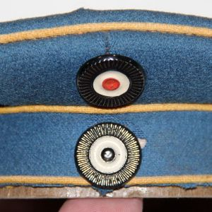 B071. RARE WWI GERMAN MINIATURE FIELD CAP MADE BY A STUDENT OF CAP MAKING