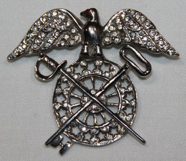 I027. WWII HOME FRONT STERLING QUARTERMASTER SWEETHEART PIN