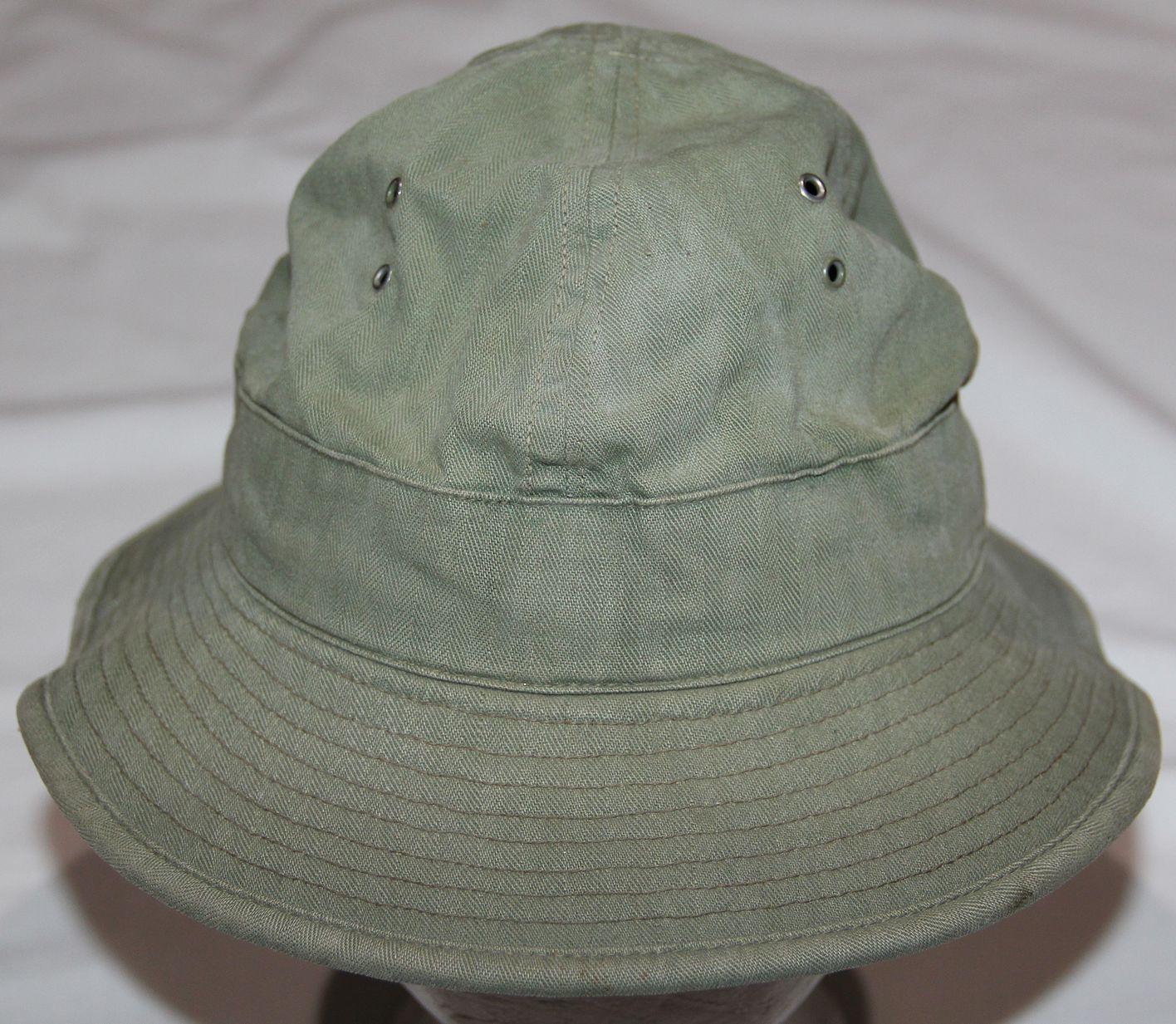 5a3c77bdf36 C028. EARLY WWII OD HBT DAISY MAE FATIGUE CAP - B   B Militaria