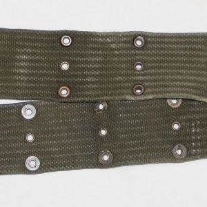 S042. KOREAN WAR 1952 DATED OD WEB PISTOL BELT