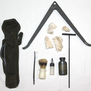 T077. VIETNAM XM3 BIPOD CASE WITH BIPOD, CLEANING KIT AND CLEANING ROD