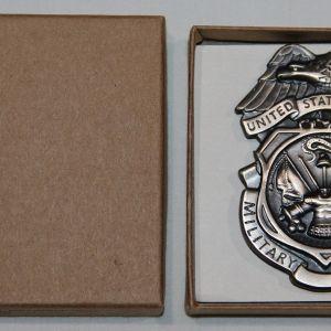 U016. UNISSUED 1983 DATED U.S. ARMY MILITARY POLICE BADGE