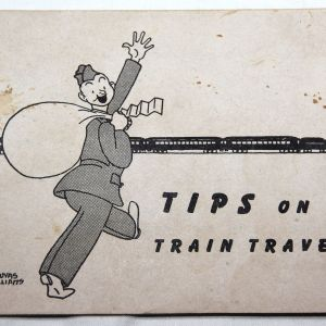 J035. WWII TIPS ON TRAIN TRAVEL BOOKLET