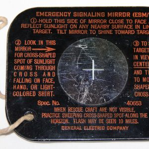 E089. WWII SURVIVAL VEST EMERGENCY SIGNALING MIRROR