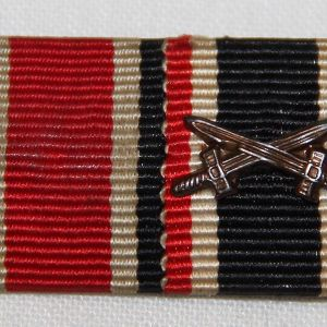 Q033. WWII GERMAN 2 PLACE MOUNTED RIBBON BAR SET