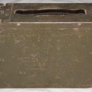 B111. WWI WOODEN AMMO BOX FOR BROWNING 1917 AND 1917A1 MACHINE GUN
