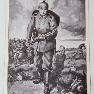 B115. WWI GERMAN POSTCARD WITH SOLDIER