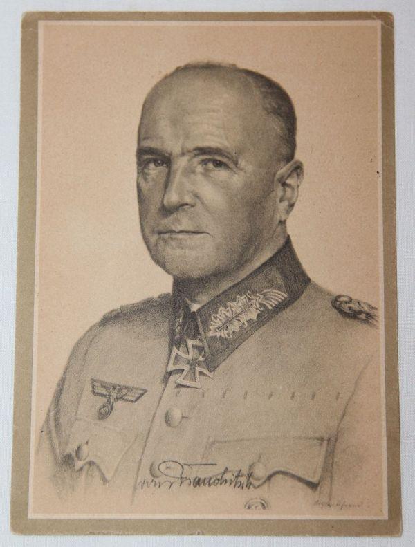 R033. WWII GERMAN POSTCARD OF FIELD MARSHALL VON BRAUCHITSCH